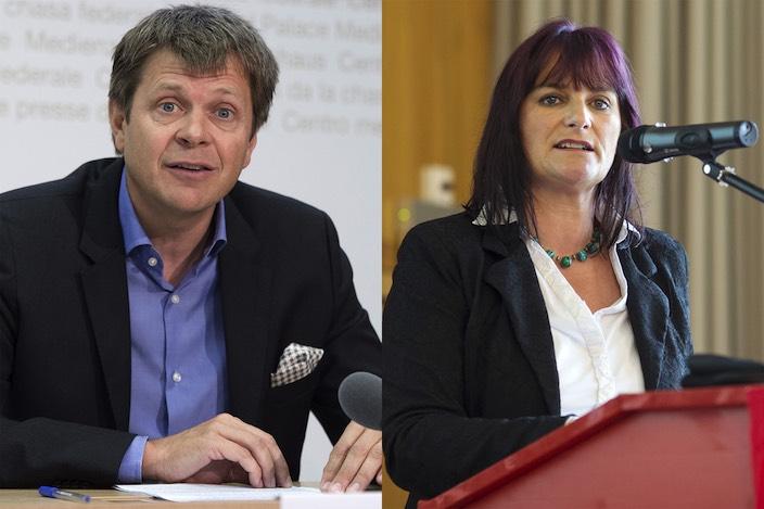 Jürg Grossen und Christine Häsler sind mit der mangelhaften Informationspolitik zum neuen Sachplan Militär unzufrieden.